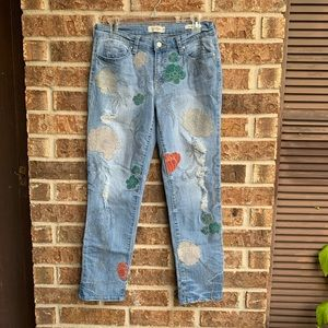 Jessica Simpson floral embroidered jeans